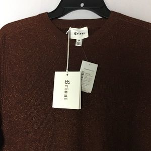 BRIONI Sweaters - BRIONI ItalianMade Snug WoolBlend Metallic Sweater
